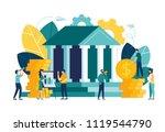 vector flat illustration  bank... | Shutterstock .eps vector #1119544790