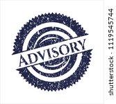 blue advisory rubber grunge... | Shutterstock .eps vector #1119545744