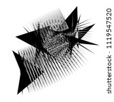 abstract black and white object ... | Shutterstock .eps vector #1119547520