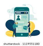 vector colorful illustration ... | Shutterstock .eps vector #1119551180