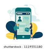 vector colorful illustration ... | Shutterstock .eps vector #1119551180