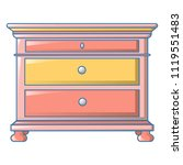 vintage drawers icon. cartoon... | Shutterstock .eps vector #1119551483
