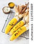 corn bbq with sauce | Shutterstock . vector #1119553889