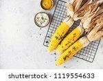 corn bbq with sauce | Shutterstock . vector #1119554633