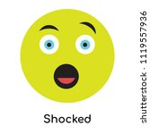 shocked icon vector isolated on ... | Shutterstock .eps vector #1119557936