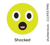 shocked icon vector isolated on ... | Shutterstock .eps vector #1119557990