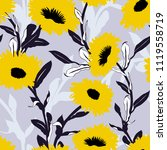 vector floral pattern with bold ... | Shutterstock .eps vector #1119558719
