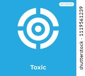 toxic vector icon isolated on... | Shutterstock .eps vector #1119561239