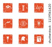 study of lizard icons set.... | Shutterstock .eps vector #1119561620