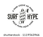 surf hype  black on white... | Shutterstock .eps vector #1119563966