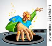 illustration of disco jockey... | Shutterstock .eps vector #111956546
