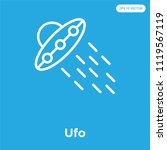 ufo vector icon isolated on...   Shutterstock .eps vector #1119567119