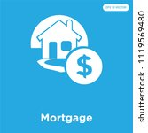 mortgage vector icon isolated... | Shutterstock .eps vector #1119569480