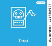 tarot vector icon isolated on... | Shutterstock .eps vector #1119569579