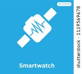 smartwatch vector icon isolated ... | Shutterstock .eps vector #1119569678
