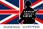 armed forces day.uk flag and... | Shutterstock .eps vector #1119579500