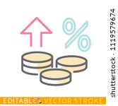 growth of money. concept of...   Shutterstock .eps vector #1119579674