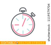 timer icon. stopwatch. editable ...   Shutterstock .eps vector #1119579704
