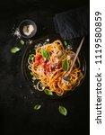 tasty appetizing classic...   Shutterstock . vector #1119580859