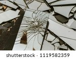 large pile of broken glass ... | Shutterstock . vector #1119582359