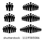 people icons set. team icon.... | Shutterstock .eps vector #1119585086