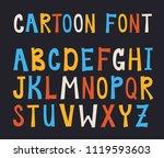 vector lettering alphabet. hand ... | Shutterstock .eps vector #1119593603