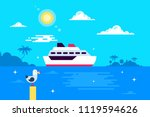 the illustration of the cruise... | Shutterstock .eps vector #1119594626