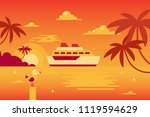 the illustration of the cruise...   Shutterstock .eps vector #1119594629