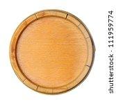 round bottom of wooden keg | Shutterstock . vector #111959774