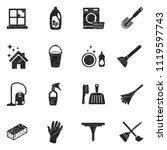 cleaning icons. black scribble...   Shutterstock .eps vector #1119597743