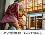 wernigerode witch face in harz... | Shutterstock . vector #1119598313