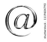 black   white metallic chrome...   Shutterstock . vector #1119604793
