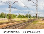 railway line and rails on a... | Shutterstock . vector #1119613196