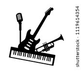 music jazz blues band icon.... | Shutterstock .eps vector #1119614354