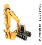 hydraulic excavator with bucket ... | Shutterstock . vector #1119614483
