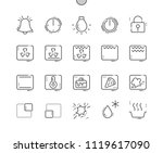 oven symbols well crafted pixel ... | Shutterstock .eps vector #1119617090
