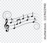 musical design element  music... | Shutterstock .eps vector #1119622940
