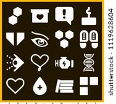 set of 16 shapes filled icons... | Shutterstock .eps vector #1119628604