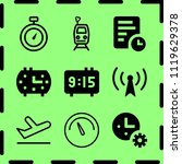 simple 9 icon set of time... | Shutterstock .eps vector #1119629378