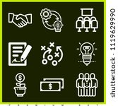 set of 9 business outline icons ...   Shutterstock .eps vector #1119629990