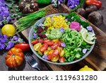 rainbow salad colorful food | Shutterstock . vector #1119631280