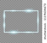 frame with light effects  laser ... | Shutterstock .eps vector #1119634673