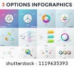 bundle of infographic design... | Shutterstock .eps vector #1119635393