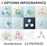 bundle of various infographic... | Shutterstock .eps vector #1119635420