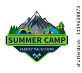 vector summer camp and outdoor...