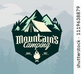 vector mountains camping and... | Shutterstock .eps vector #1119638879