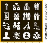 set of 16 people filled icons...   Shutterstock .eps vector #1119640529