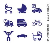 set of 9 transport filled icons ... | Shutterstock .eps vector #1119640604