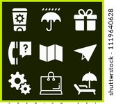 set of 9 other filled icons...   Shutterstock .eps vector #1119640628