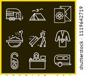 set of 9 holidays outline icons ...   Shutterstock .eps vector #1119642719